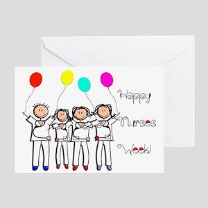 Nurse week card 3 stick nurses Greeting Cards