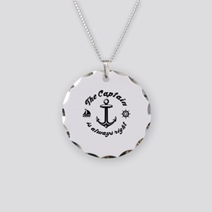 The Captain Is Always Right Necklace Circle Charm