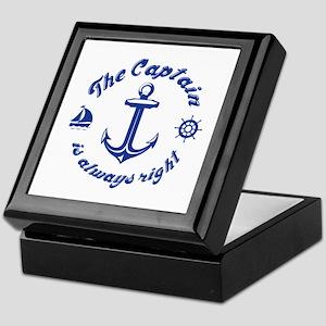 The Captain Is Always Right Keepsake Box