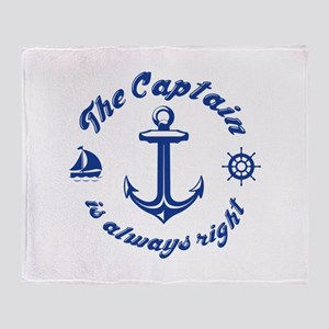 The Captain Is Always Right Stadium Blanket