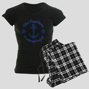 The Captain Is Always Right Women's Dark Pajamas