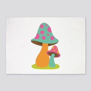 Psychedelic Mushrooms 5'x7'Area Rug