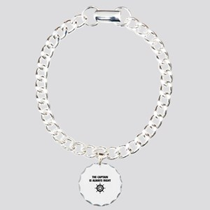 The Captain Is Always Right Charm Bracelet, One Ch