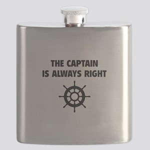 The Captain Is Always Right Flask