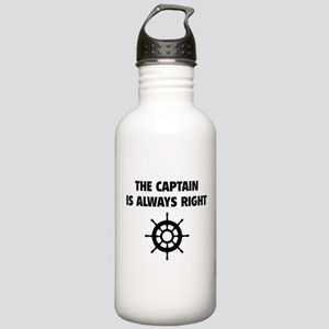 The Captain Is Always Right Stainless Water Bottle