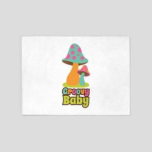 Groovy Baby 5'x7'Area Rug