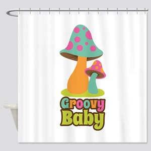 Groovy Baby Shower Curtain