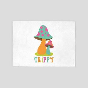 Trippy 5'x7'Area Rug