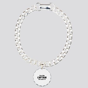 I'm The Captain Get Over It Charm Bracelet, One Ch