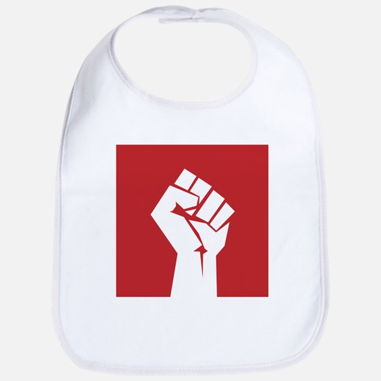 Retro fist design on red Bib