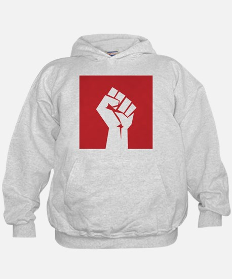 Retro fist design on red Hoodie