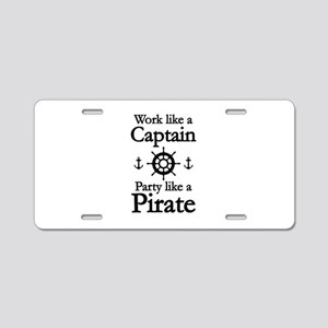 Work Like A Captain Party Like A Pirate Aluminum L
