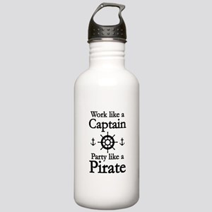 Work Like A Captain Party Like A Pirate Stainless