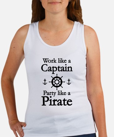 Work Like A Captain Party Like A Pirate Women's Ta