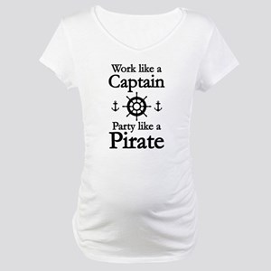 Work Like A Captain Party Like A Pirate Maternity