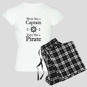 Work Like A Captain Party Like A Pirate Women's Li