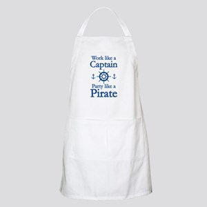 Work Like A Captain Party Like A Pirate Apron