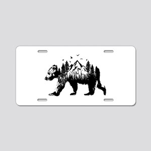 Bear Woods Aluminum License Plate