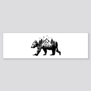 Bear Woods Bumper Sticker