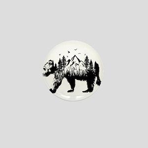 Bear Woods Mini Button