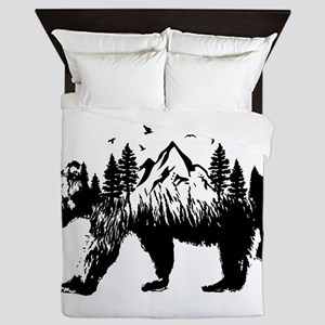 Bear Woods Queen Duvet
