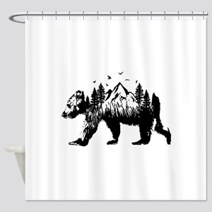 Bear Woods Shower Curtain
