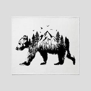 Bear Woods Throw Blanket