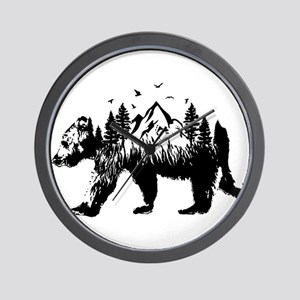 Bear Woods Wall Clock