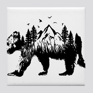 Bear Woods Tile Coaster