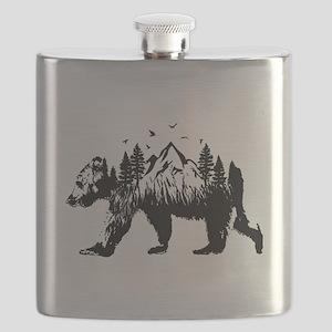 Bear Woods Flask