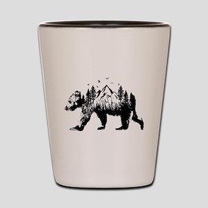 Bear Woods Shot Glass