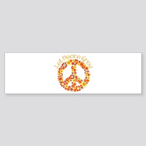 Let Peace Grow Bumper Sticker