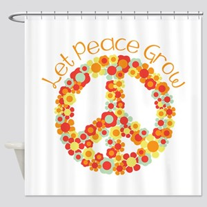 Let Peace Grow Shower Curtain