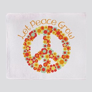 Let Peace Grow Throw Blanket