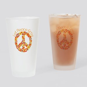 Let Peace Grow Drinking Glass