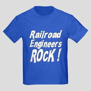 Railroad Engineers Rock ! Kids Dark T-Shirt