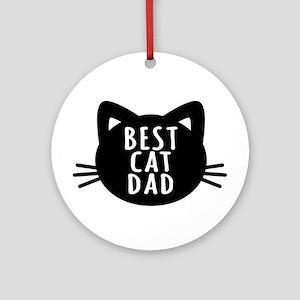 Best Cat Dad Round Ornament