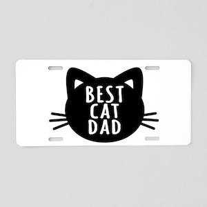 Best Cat Dad Aluminum License Plate