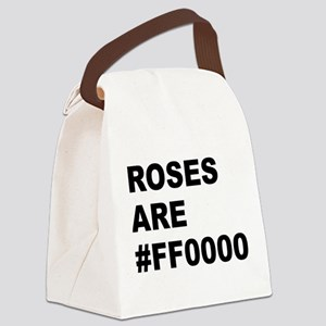 Roses Are #FF0000 Canvas Lunch Bag