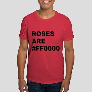 Roses Are #FF0000 Dark T-Shirt
