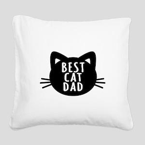 Best Cat Dad Square Canvas Pillow