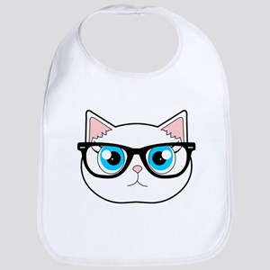 bfc22e1a9e34c Hipster Cat Baby Bibs - CafePress