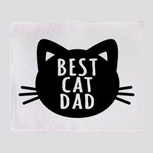 Best Cat Dad Throw Blanket