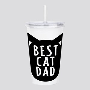 Best Cat Dad Acrylic Double-wall Tumbler