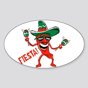 Fiesta Oval Sticker