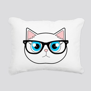 Cute Hipster Cat with Glasses Rectangular Canvas P
