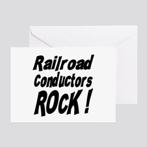 Railroad Conductors Rock ! Greeting Cards (Package