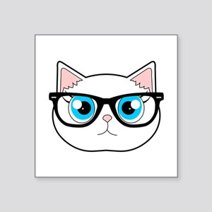 Cute Hipster Cat with Glasses Sticker