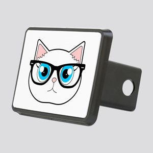 ad913ef5e4619 Cute Hipster Cat with Glasses Hitch Cover