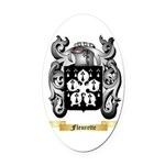 Fleurette Oval Car Magnet